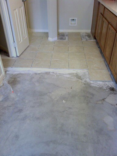 Laying new tile