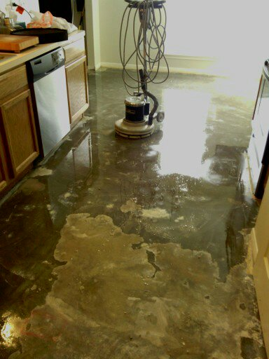 Tile flooring prepration