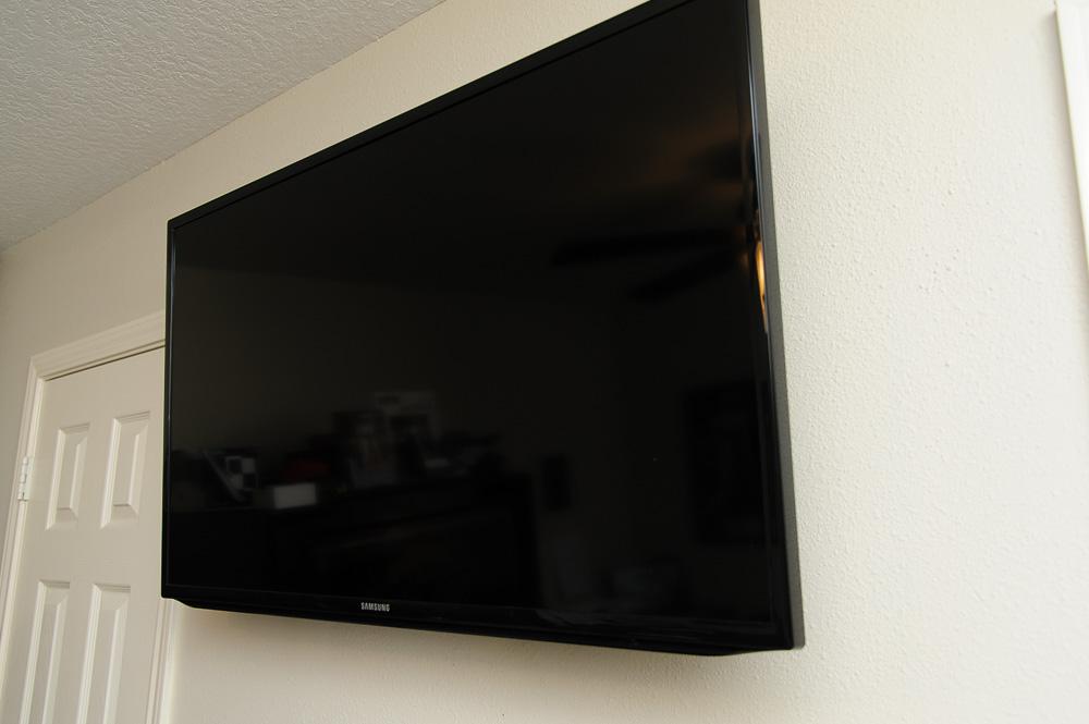 Wall Mounted Flat Screen TV